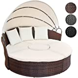 Polyrattan Lounge Sonneninsel mit Tisch Wohlfühllandschaft inkl. Kissen verschiedene Farben