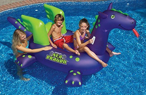 Swimming-Pool-Kids-Giant-Rideable-Sea-Dragon-Inflatable-Float-Toy