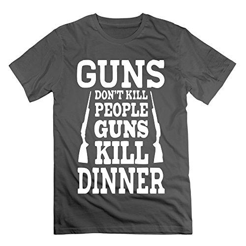 Men's Gun's Don't Kill People. Guns Kill Dinner Printing Short Tshirts (Rock Rival Shorts compare prices)