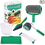 PAINT AVIATOR 8Pcs/Set Paint Roller,Paint Runner Pro Kit Paint Quickly Tool Speedy DIY Wall Printing for Home Office