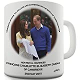 HRH Royal Baby Princess Charlotte Commemorative Novelty Mug