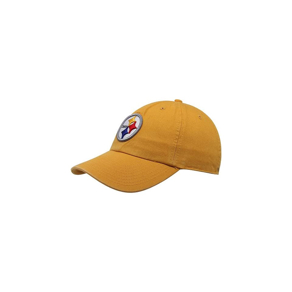 NFL Pittsburgh Steelers Mens Clean Up Cap, Gold, One Size