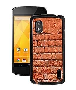 Fuson 2D Printed Brick Wall Designer Back Case Cover for LG Google Nexus 4 - D889