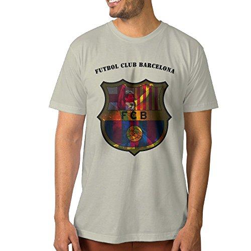 Custom Men's T-shirts Futbol Club B Logo XXL Natural (Polaroid Coffee Cup compare prices)