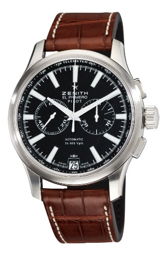 Zenith Men's 03.2117.4002/23.C704 Pilot Chronograph Black Dial Watch