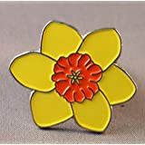 Metal Enamel Pin Badge Welsh Emblem Daffodil Flower