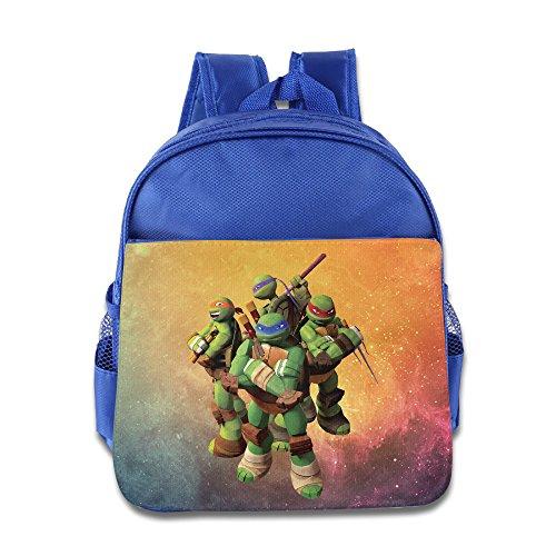[Custom Turtles Superb Kids School Bag Backpack For 1-6 Years Old RoyalBlue] (Ghana Costume For Boys)