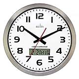 Advanced Acctim Merdian 380mm LCD Wall clock With Date & Temprature Display [ZP2635] (Min 3yr Warranty)