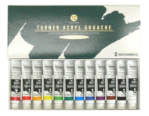 ターナー アクリルガッシュ 12色スクールセット