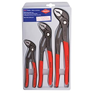 Knipex 002006S1 3-Piece Cobra Pliers Set (7-Inch, 10-Inch, & 12-Inch)