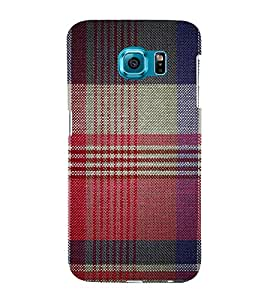Red Checks Pattern 3D Hard Polycarbonate Designer Back Case Cover for Samsung Galaxy S6 :: Samsung Galaxy S6 G920
