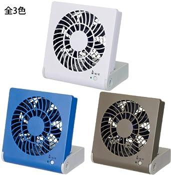 ドウシシャ 3電源(AC,USB,乾電池) 10cm コンパクトデスク扇風機 風量2段切替機能付 ブラウン NPM-1081U(BR)