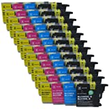 48 CiberDirect High Capacity Compatible Ink Cartridges for use with Brother DCP-J140W Printers.