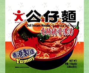 Doll Instant Noodles- Spicy Artificial Pork Flavor100-grams Pack Of 30 from Doll