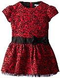 Hartstrings Little Girls' Woven Jacquard Dress