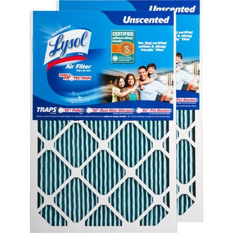 Lysol Air Filter Triple Protection 16 x 25 x 1 in. - Pack of 4