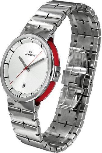 Lorenz Neos 025720bb Reloj de Acero Acero Cuarzo Quandrante Correa de Acero