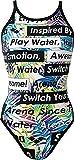 arena(アリーナ) レディース 競泳水着 練習用 スーパーフライバック タフスーツ ワンピース FSA-6614W ホワイト×ブルー M