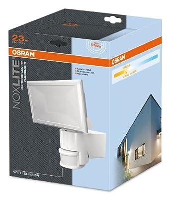 osram noxlite led floodlight sensor 23 w 3000 k wei 4052899917996 de190. Black Bedroom Furniture Sets. Home Design Ideas