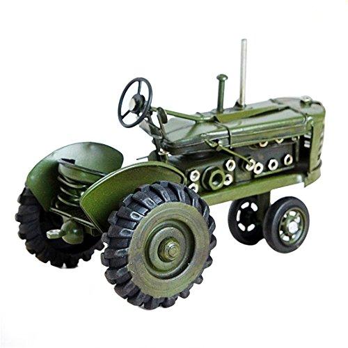 Weltzukaufen-Traktor-Modell-Blechtraktor-Blechmodell-Tin-Modell-Vintage-Tractor-Retro-Stil-Deko-in-GrnRot-171011cm251315cm-251315cm-Grn