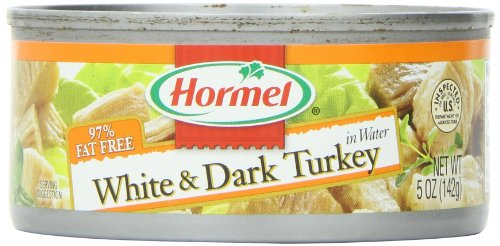 Hormel White & Dark Chunk Turkey, 5-Ounce Cans (Pack of 12) (Hormel Canned Turkey compare prices)