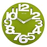 WINOMO Novità traforate 3D grandi cifre cucina Home Office Decor tondo orologio da parete a forma di orologio Art (verde)