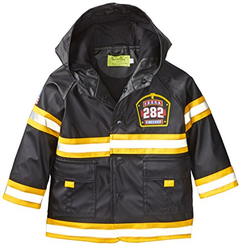 Western Chief Little Boys' F.D.U.S.A. Firechief Rain Coat, Black, 6