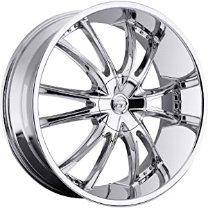 VCT Bossini 22 Chrome Wheel / Rim 6×135 & 6×5.5 with a 30mm Offset and a 87.1 Hub Bore. Partnumber V69-2291261351397+30