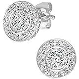 Ariel 9ct White Gold Women's Diamond Earrings