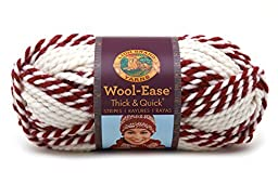Lion Brand Acrylic Blend Wool-Ease Thick and Quick Yarn-Red Beacon by Lion Brand
