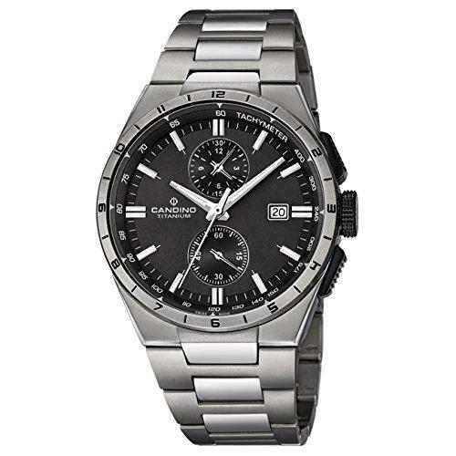 ad615520d6ec Candino Candino - Reloj de hombre analógico Sport Titanio Pulsera de  titanio plateado de cuarzo reloj