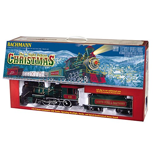 Amazing Bachmann G Scale Night Before Christmas Electric Train Set
