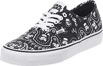 Buy Vans Authentic (Star Wars Stormtrooper Bandana) Mens Skate Shoe by Vans
