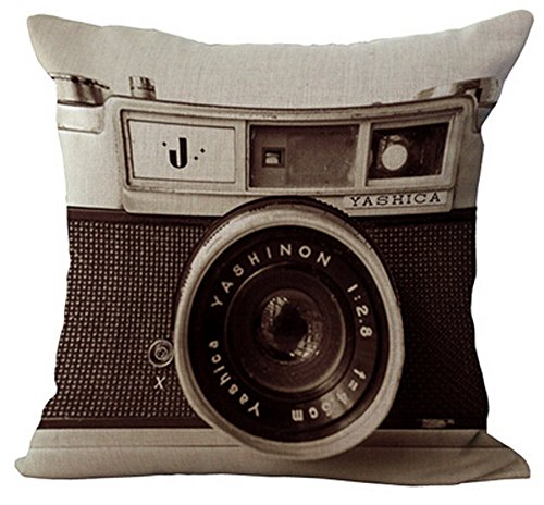 Monkeysell 3D printing various types of Vintage Camera Home Throw Pillow Case Personalized Cushion Sofa Home Decor Design Throw Pillow Case Cushion Covers Square 18 Inch (1)