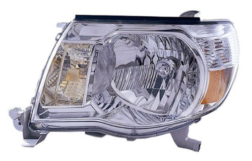 2005-2009 Toyota Tacoma Ccfl Projector Headlights /W Amber (Black)