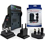 ABC Products® Battery Charger for Sony NP-BX1 / X Type / BC-TRX suits Select Cybershot Digital Camera and Handycam Camcorder (Models Stated Below) World Travel Plug Version - UK/Europe/USA+