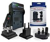Battery Charger for Pentax D-Li92 / DL-i92 / K-BC92H suits Optio i10, RZ10, RZ18, WG-1, WG1 GPS, WG2, WG-2, WG II, WG-3, WG III, WG-10, X-70 Digital Camera etc World Travel Plug Version - UK/USA/Europe+