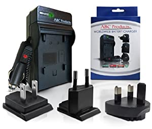 ABC Products® Battery Charger for Li50B Li-50B Li50C Li-50C suits Olympus Mju 1010, 1020, 1030 SW, Mju Tough Series 6000, 6010, 6020, 8000, 8010, 9000, 9010, SP-610UZ, SP-720UZ, SP-800UZ, SP-810UZ, SZ-10, SZ-11, SZ-12, SZ-14, SZ-20, SZ-30, SZ-30MR, SZ-31, SZ-31MR, TG-610, TG-620, TG-810, TG-820, Smart D-750, D-755, D-760, VG-170, VR-340, VR-350, VR-360, XZ-1 Digital Camera etc + DM-3, DM-5 Voice & Music Recorder etc
