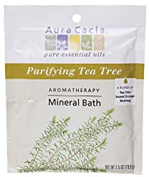 Aura Cacia Aromatherapy Mineral Bath Purifying Tea Tree 2.5 ounce packet (Pack of 3)