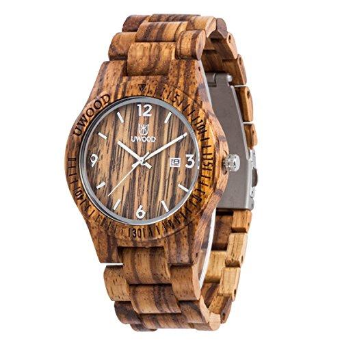 uwood-fashion-zebra-sandal-quartz-bois-montre-en-bois-water-proof-slim-bois-montre
