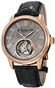Stuhrling Original Men's 536.3345X2 Tourbillon Limited Edition Meteorite Mechanical Rose-Tone Watch