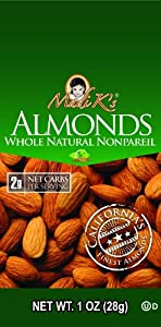 Madi Ks Whole Natural Almonds 1-ounce Bags Pack Of 48 from Madi K's
