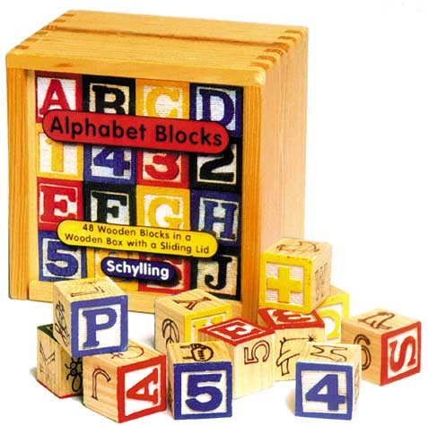 Alphabet block - Buy Alphabet block - Purchase Alphabet block (Schylling, Toys & Games,Categories,Preschool,Pre-Kindergarten Toys)
