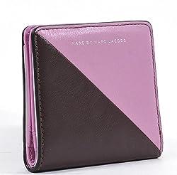 Marc by Marc Jacobs Sophisticato Sliced Emi Bi-Fold Wallet,Pink Bubblegum Multi