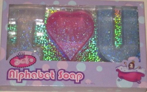 Children's Glitter Alphabet Soap (Pink & Blue) - 1