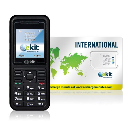 Telestial Kit V520 Dual-band Handset and Passport Lite International SIM with $5.00 Credit