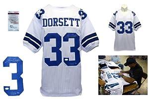 Tony Dorsett Autographed Signed White Jersey - JSA Witness - Dallas Cowboys