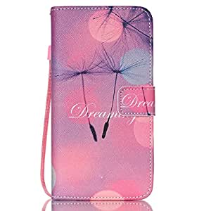 Galaxy S6 Edge Plus Case,JanCalm [Wrist Strap Design][Kickstand] Pattern Premium PU Leather Wallet [Card/Cash Slots] Flip Cover for Samsung S6 Edge Plus*Including-ONE Crystal Pen (Dreaming)