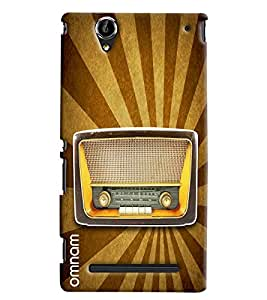 Omnam Old Radio Printed Back Cover Case For Sony Xperia T2 Ultra