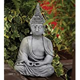 Large Garden Ornaments - Pearl Hat Thai Stone Buddha Statue
